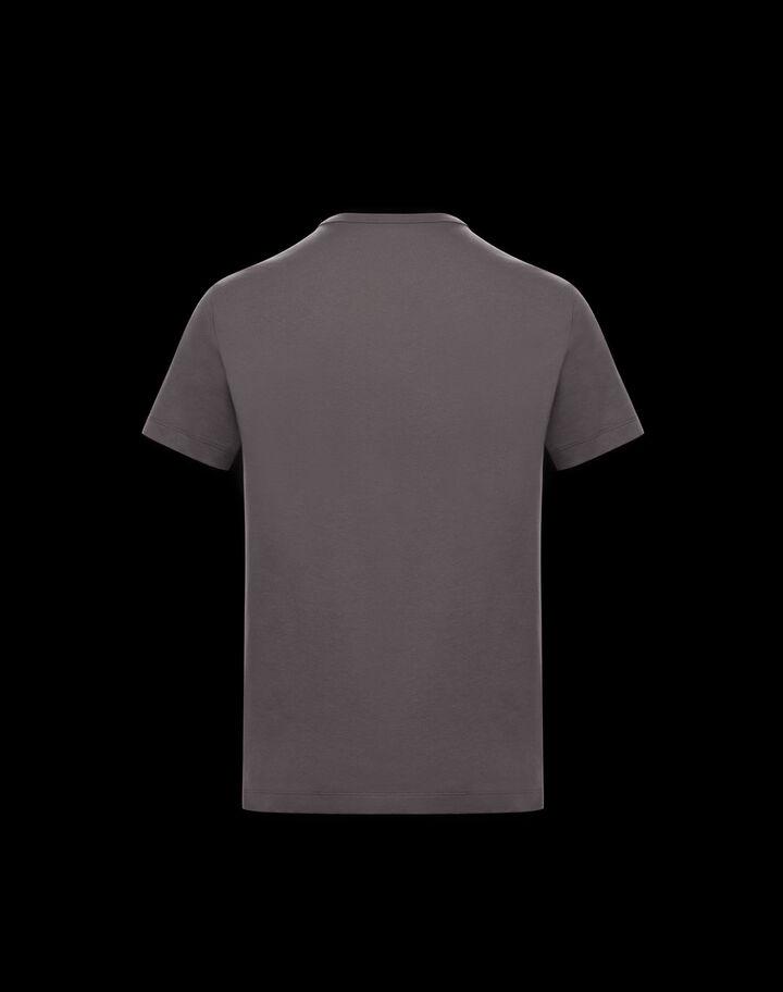Moncler Shiny lettering t-shirt Medium Gray