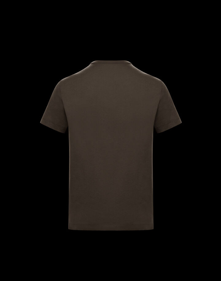 Moncler Shiny lettering t-shirt Dark Army Green