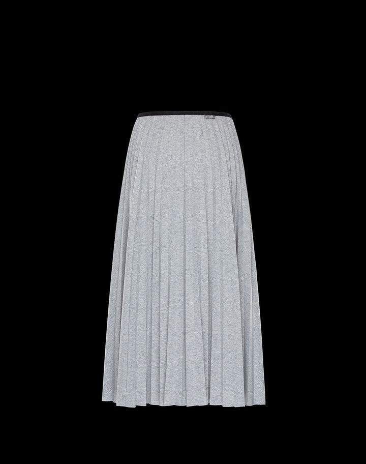 Moncler Pleated jersey skirt Light Grey