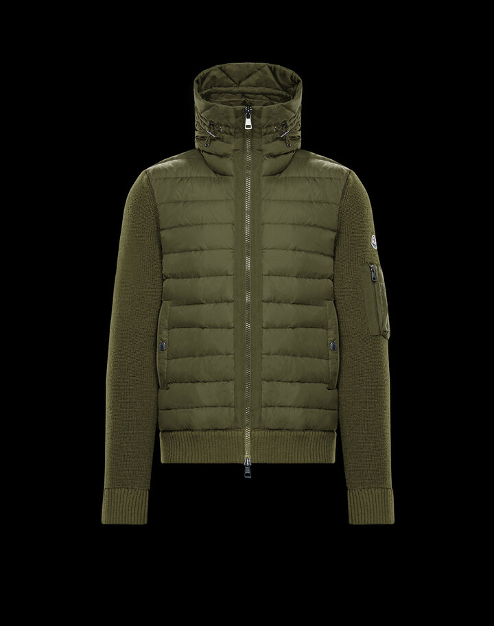Moncler Cardigan with chest pocket Army Green