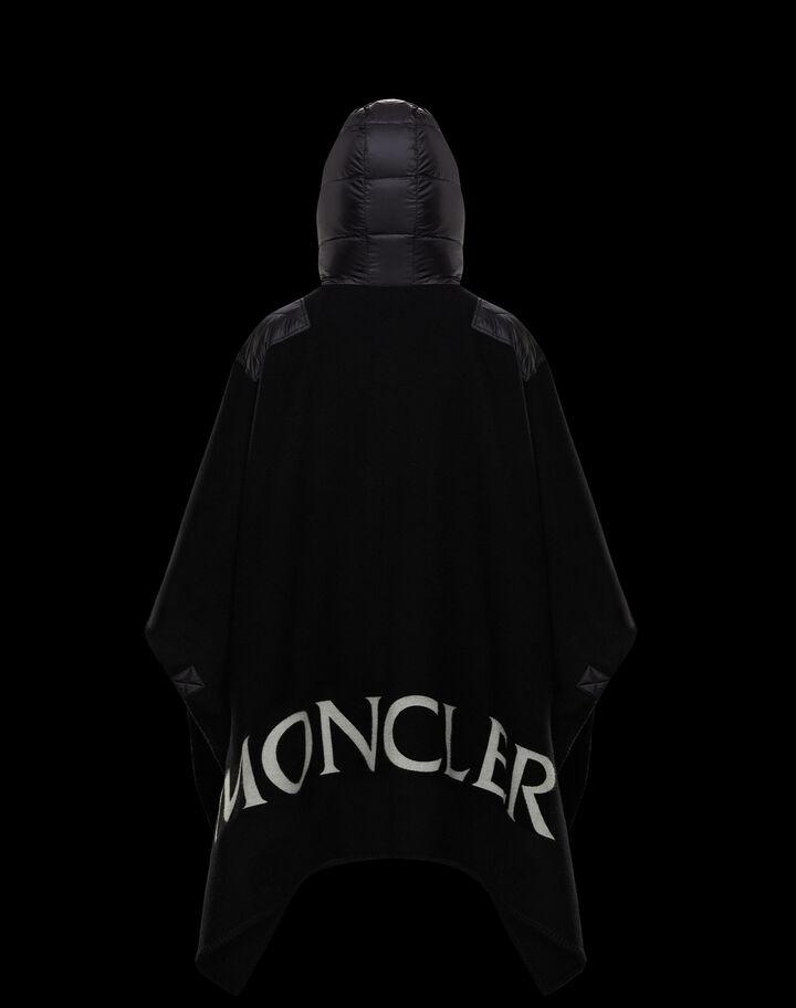 Moncler Wool cape Black