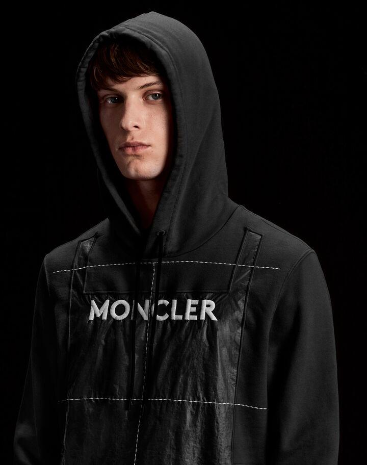 Moncler Sweatshirt with front pocket Black