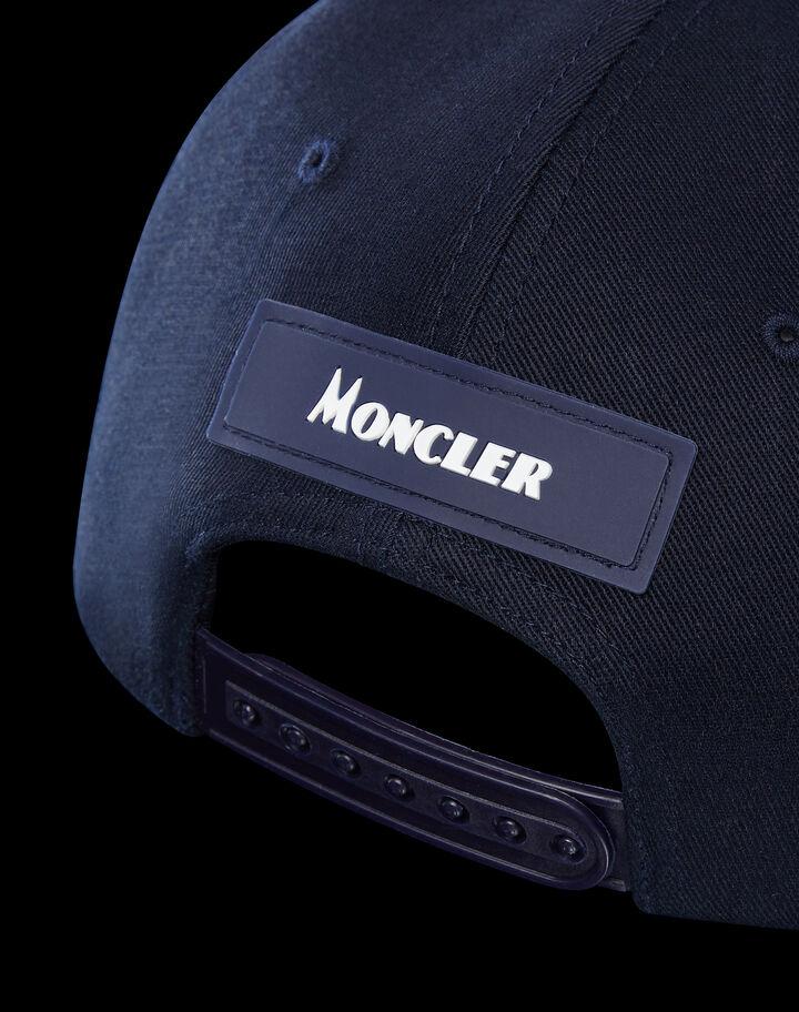 Moncler 맥시 로고 베이스볼 캡 나이트 블루