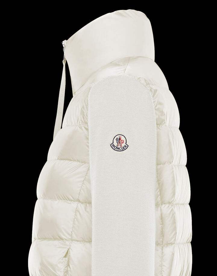 Moncler Down sweater Silk White