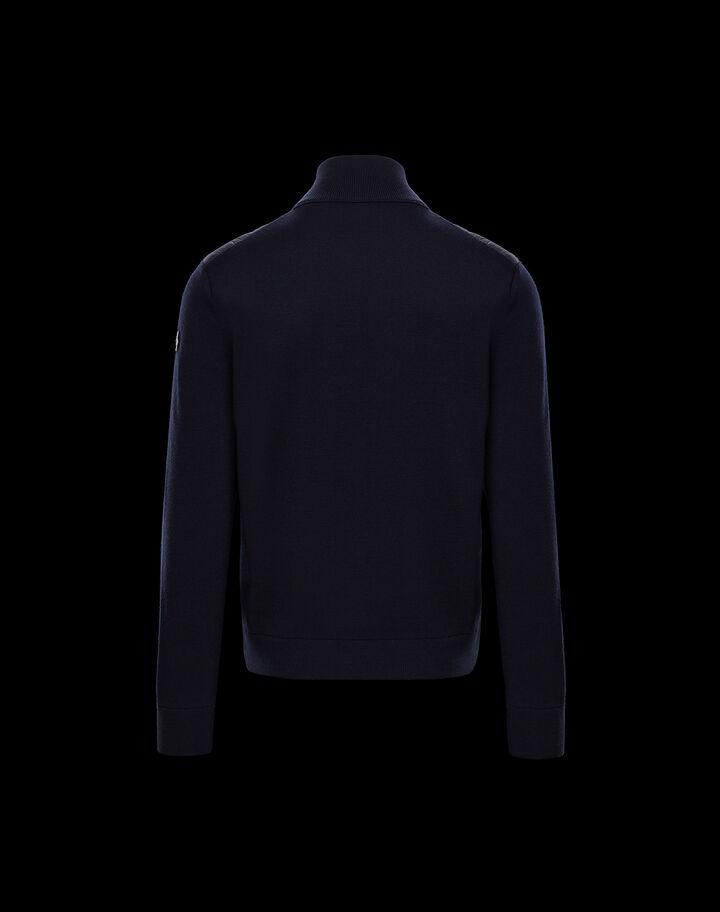Moncler Zipper cardigan Night Blue