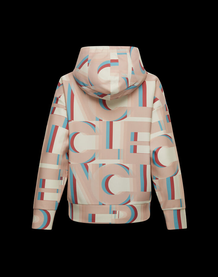 Moncler Hoodie with lettering Beige