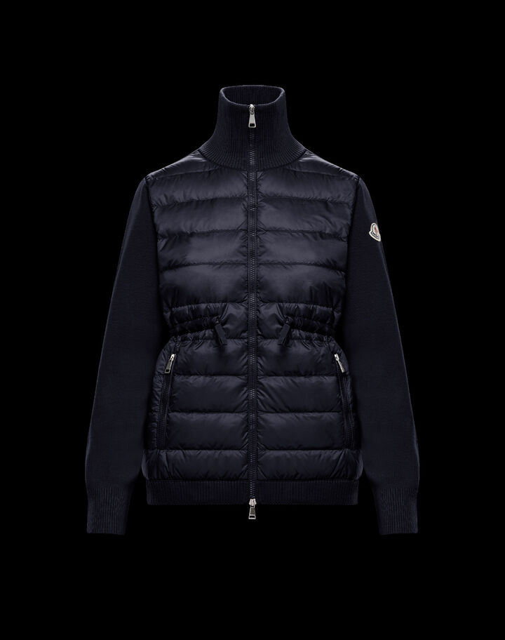 Moncler Down sweater with drawstring Night Blue