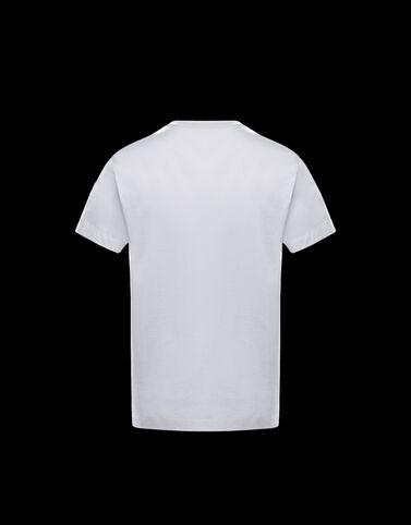 Moncler 레터링 프린트 티셔츠 옵티컬 화이트