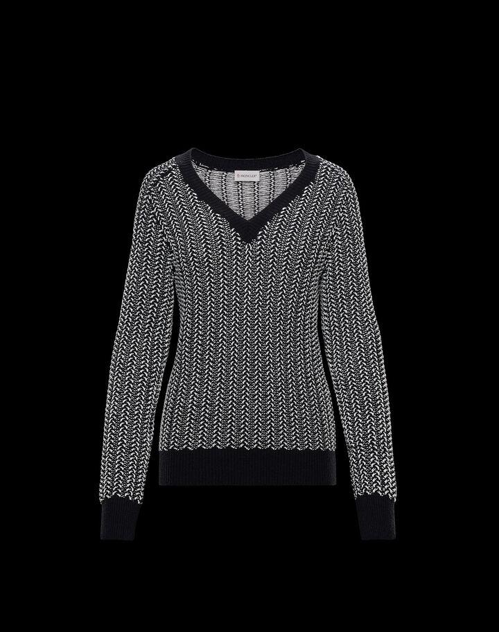 Moncler Mouliné sweater Black