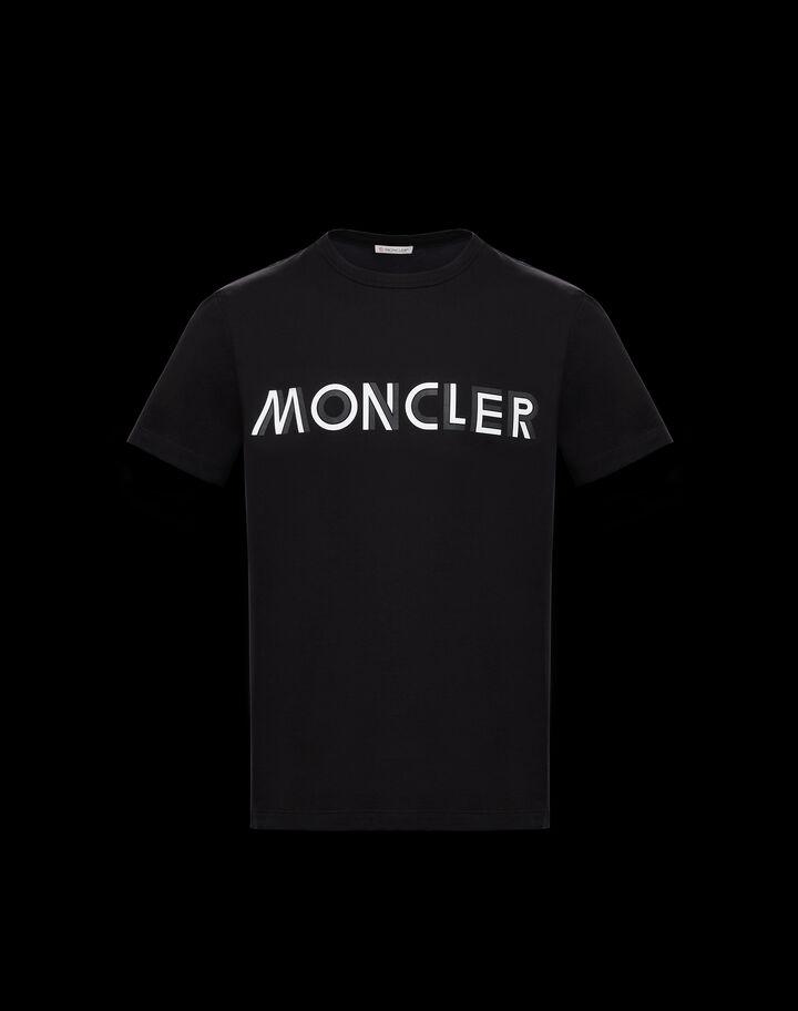 Moncler T-shirt with horizontal Moncler lettering Black