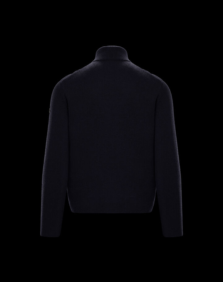 Moncler Down cardigan Night Blue
