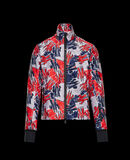Moncler Printed technical cardigan Night Blue