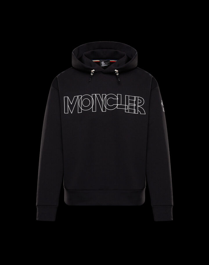 Moncler Sweatshirt with hood Black