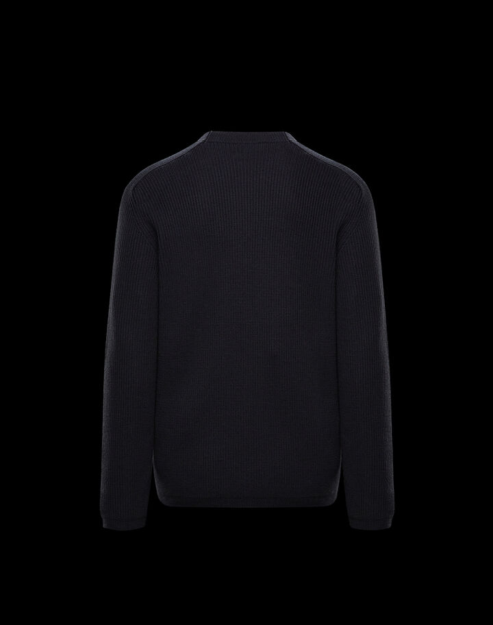 Moncler Crewneck sweater with logo Black