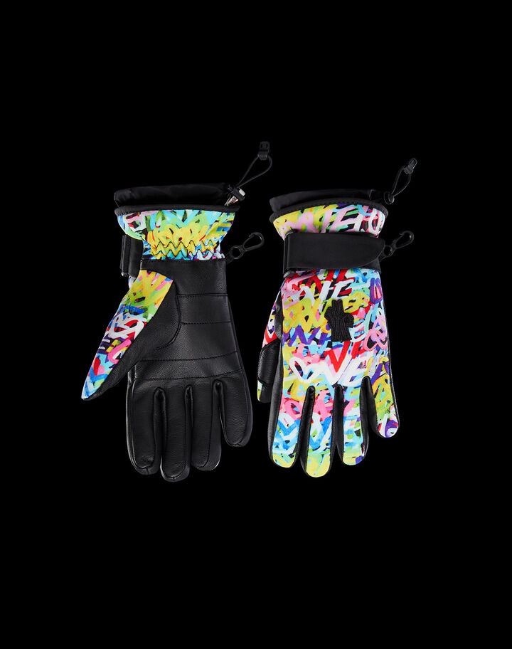 Moncler Printed gloves Cornflower Blue