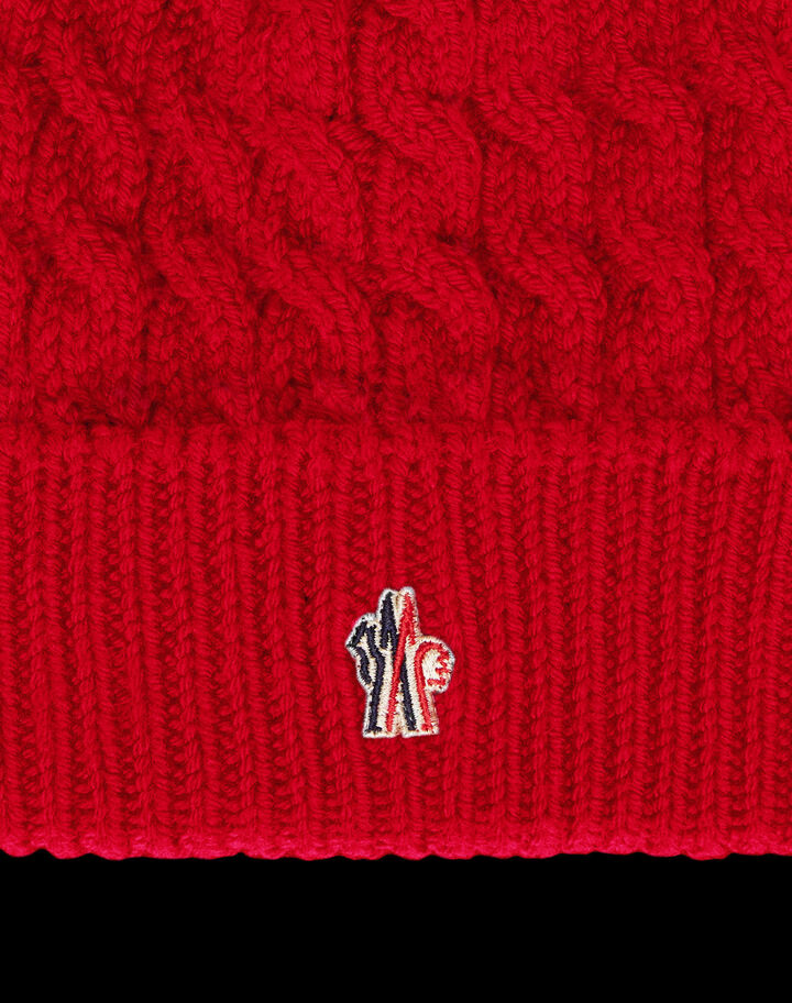 Moncler Beanie with cuff Scarlet Red