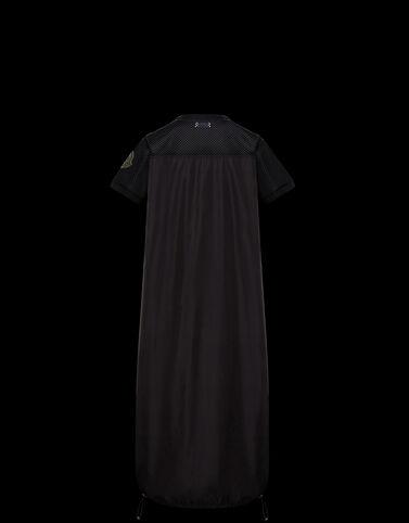 Moncler 메시 인서트 드레스 밀리터리 그린