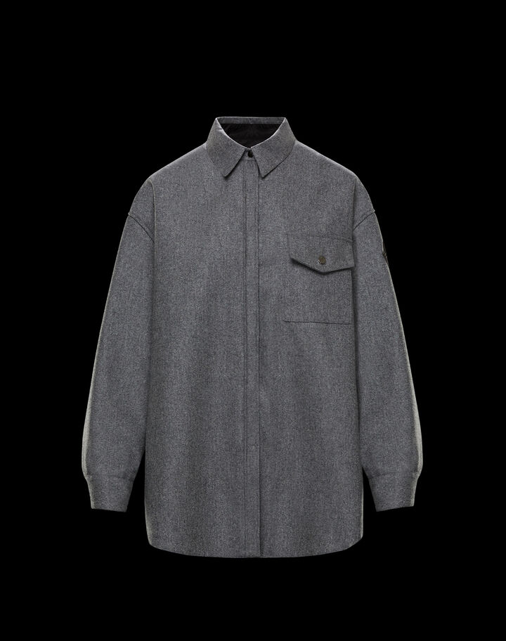 Moncler Flannel shirt Medium Grey Melange