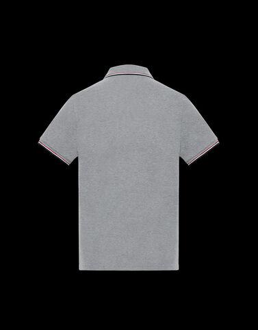 Moncler 3컬러 엣지 폴로 셔츠 라이트 그레이 멜란지