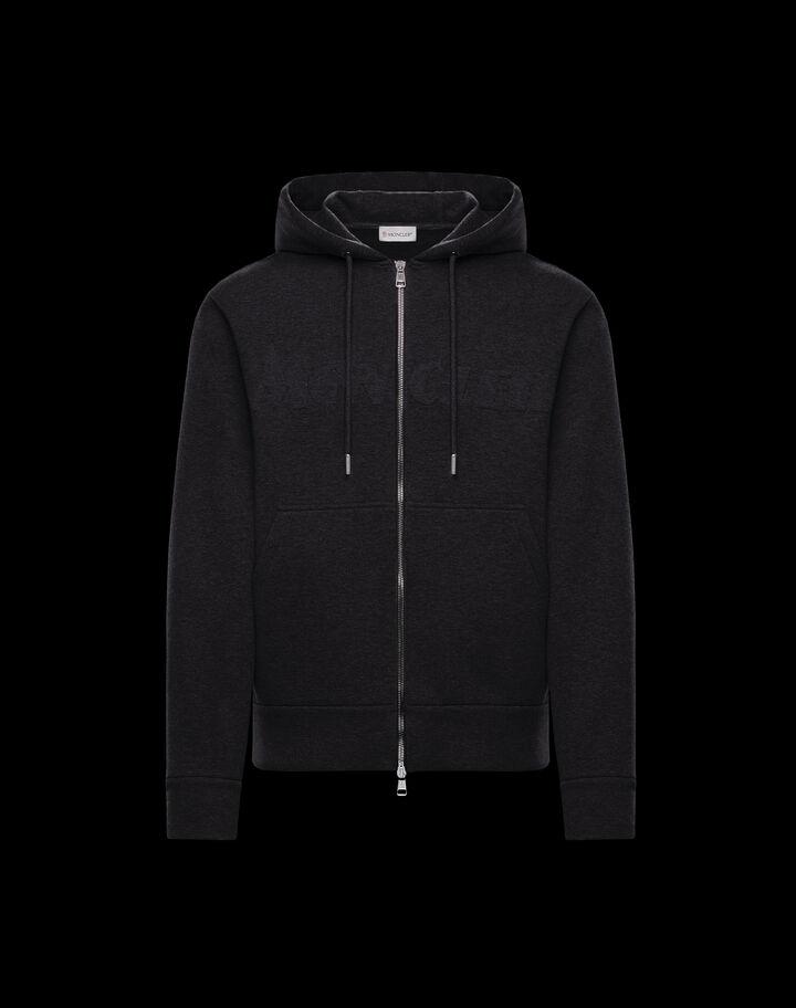 Moncler Embossed logo sweatshirt Black