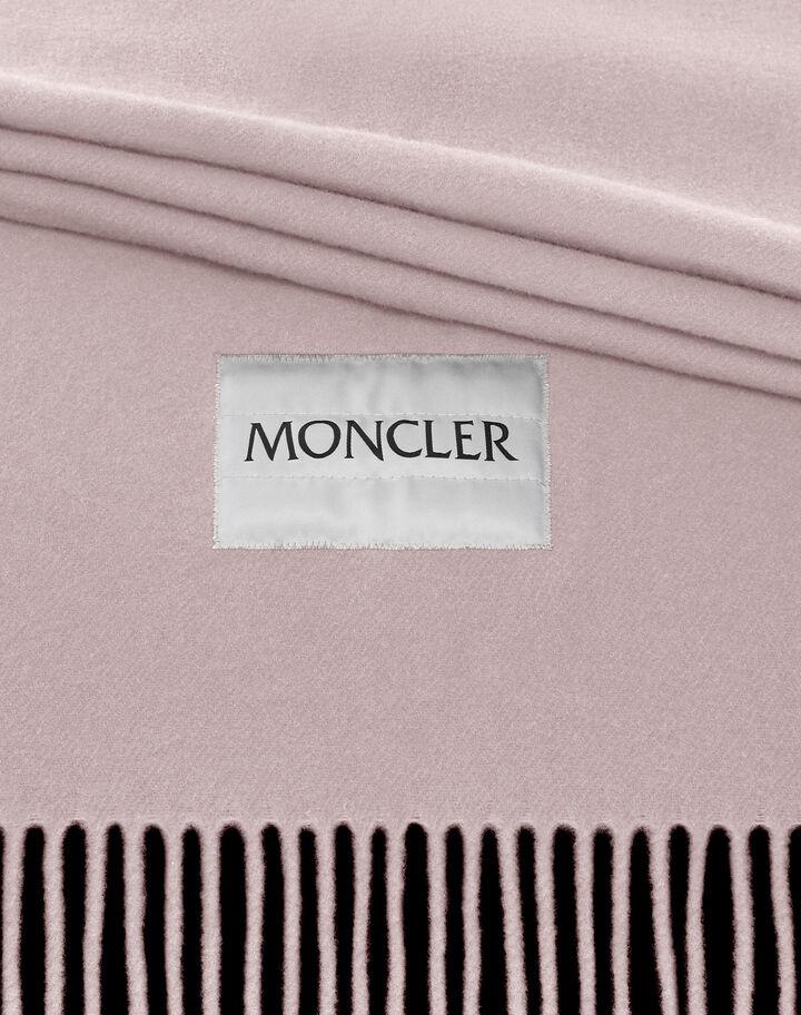 Moncler Large wool scarf Light Pink