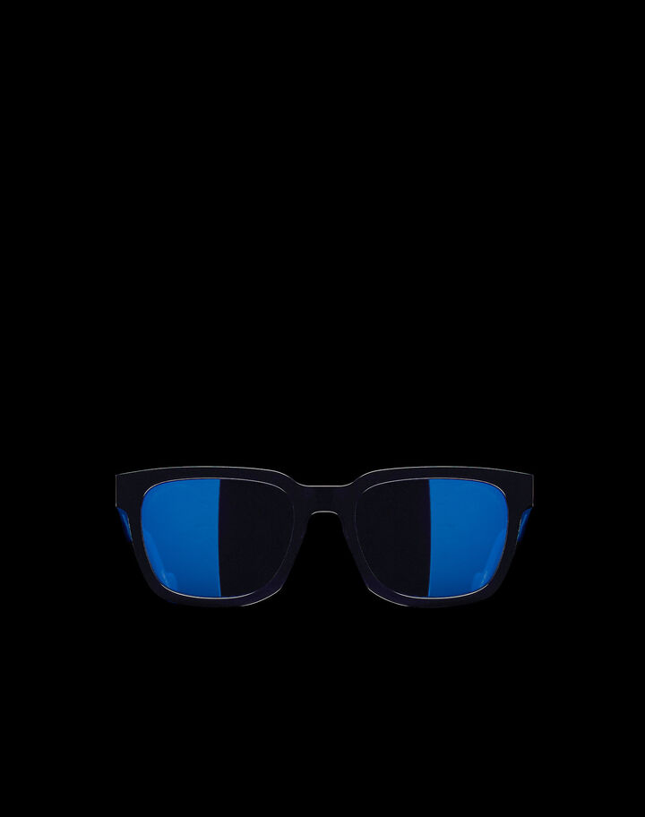 Moncler Rectangular sunglasses Shiny Black / Blue