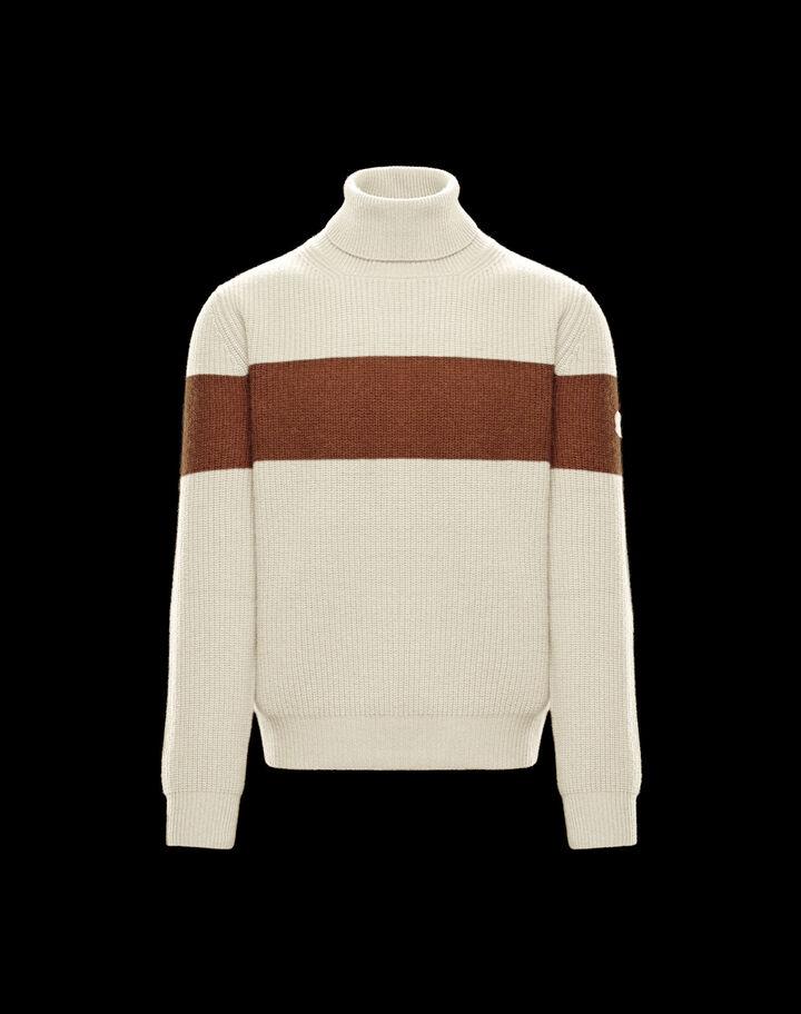 Moncler Turtleneck sweater Silk White