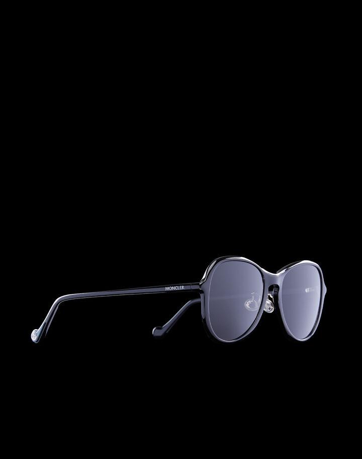 Moncler Aviator sunglasses Shiny Black