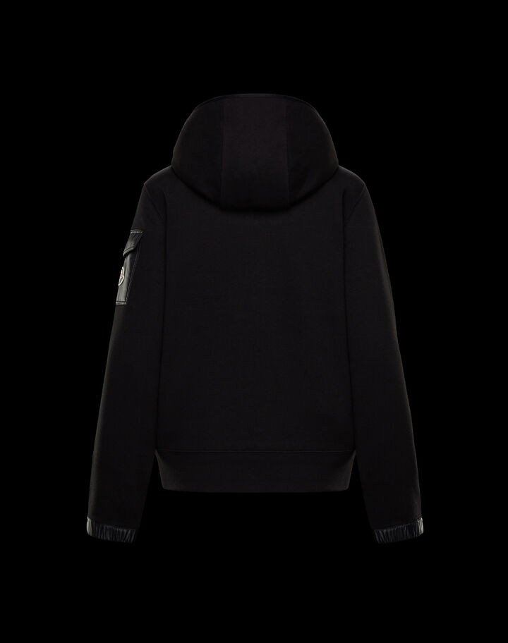 Moncler Hooded cardigan Black