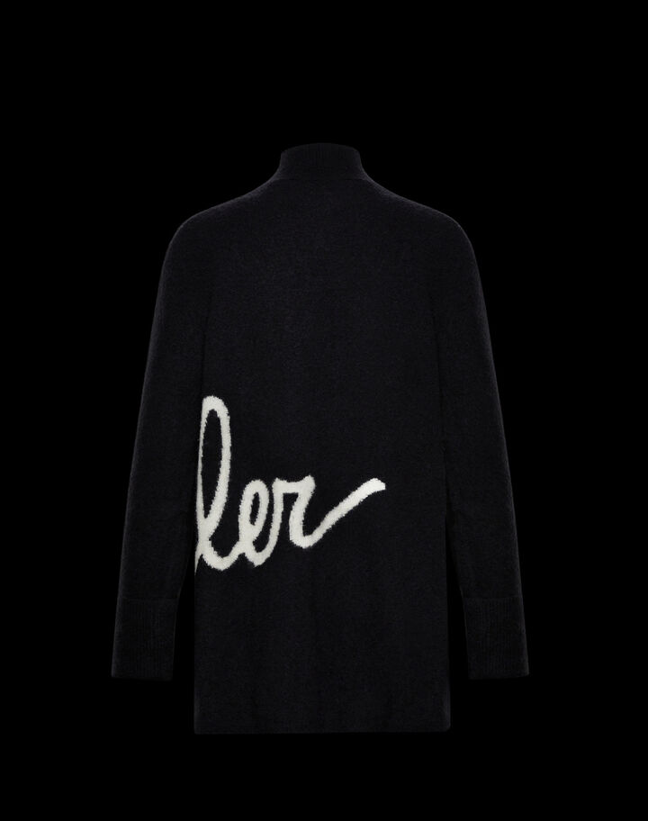 Moncler Turtleneck sweater with Moncler lettering Black