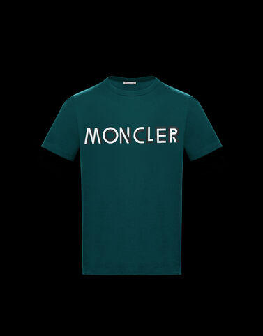 Moncler 가로 Moncler 패턴 티셔츠 정글 그린