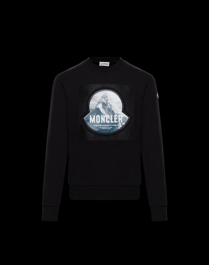 Moncler Mountain graphic sweater Black