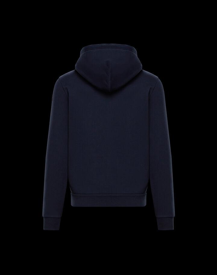 Moncler Tricolor zip-up hoodie Night Blue