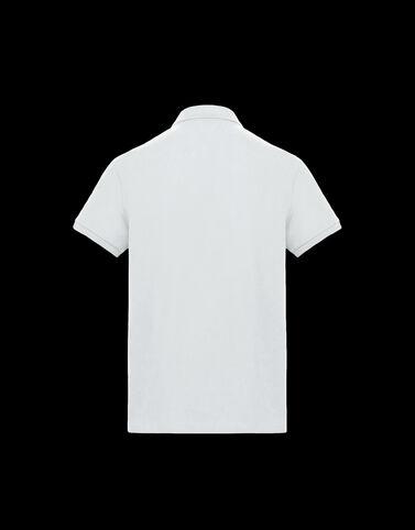 Moncler 맥시 로고 폴로 셔츠 오프 화이트