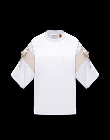 Moncler 슬리브 티셔츠 옵티컬 화이트