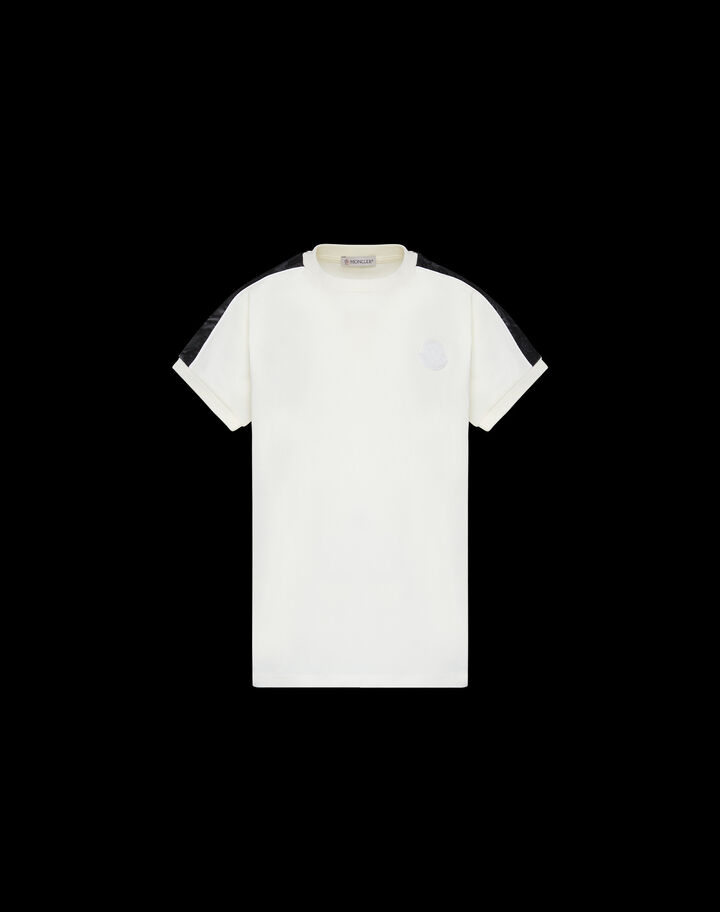 Moncler Retro t-shirt with lettering Silk White