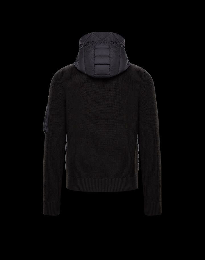 Moncler Cardigan with chest pocket Black