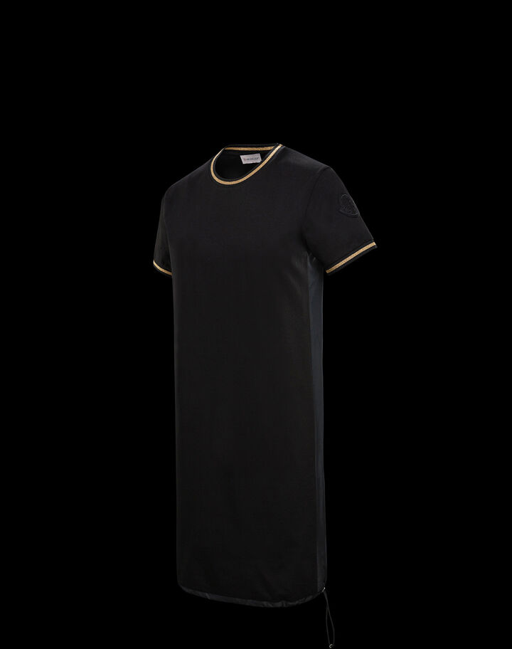 Moncler Jersey dress with detail Black