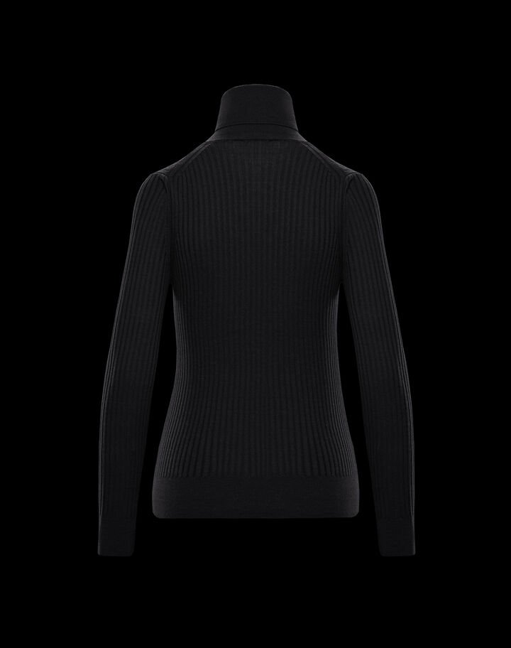 Moncler Sweater with inlay Black