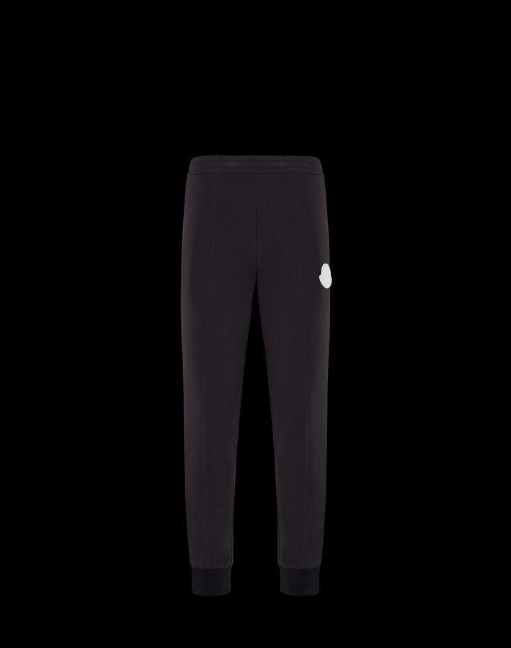 Moncler Pants with rubber logo Black