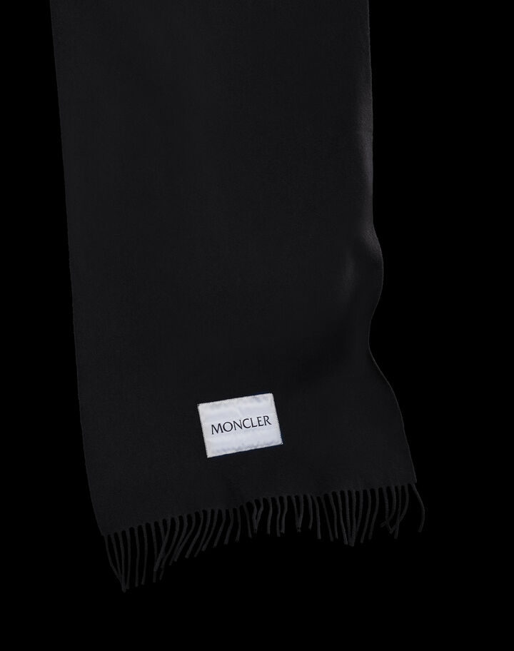 Moncler Wool scarf Black