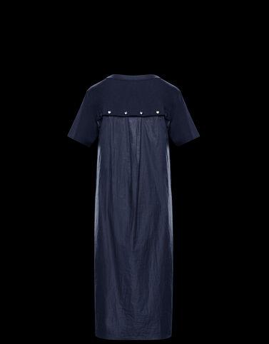 Moncler 버튼 장식 드레스 나이트 블루