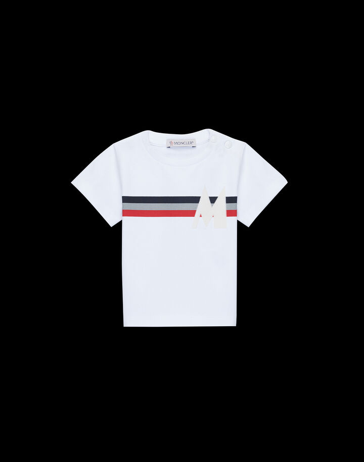 Moncler T-shirt with tricolor print Optical White