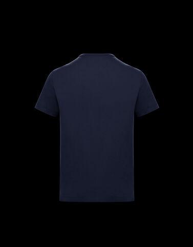 Moncler 레터링 티셔츠 나이트 블루