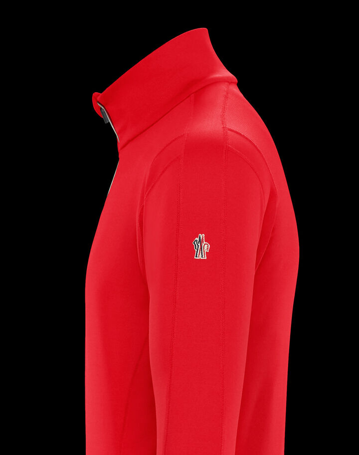 Moncler Zipped turtleneck Fire Red