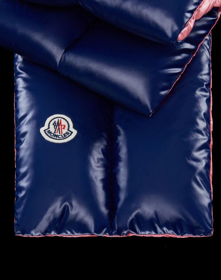 Moncler Padded scarf nylon laqué Navy Blue