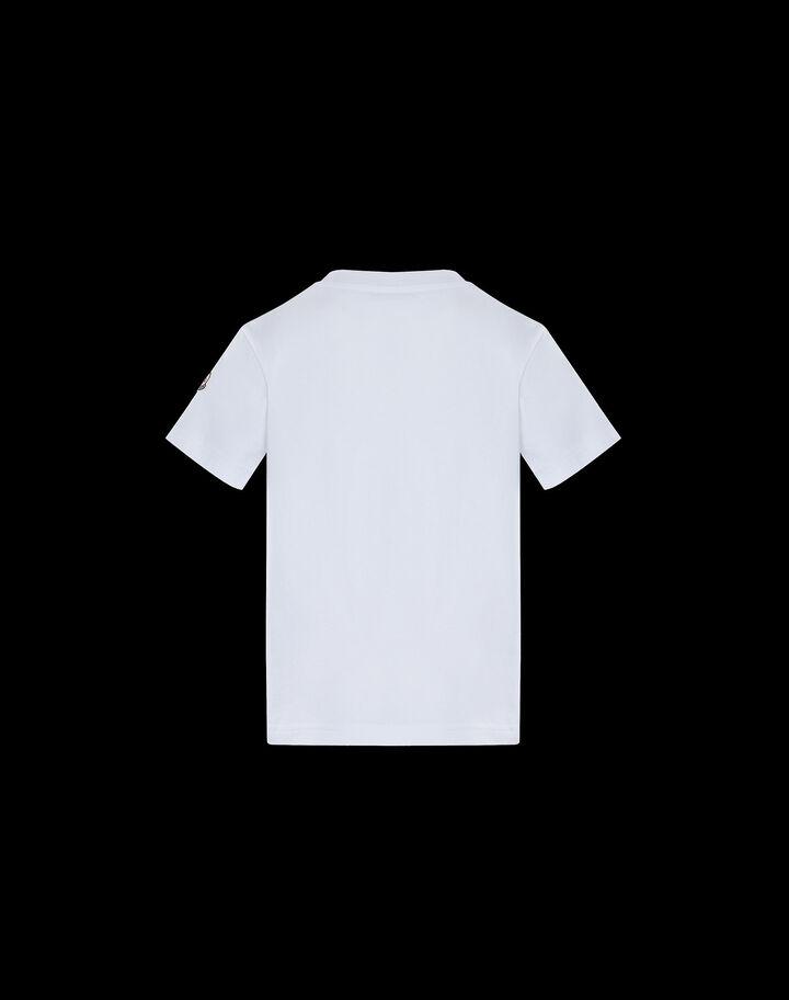 Moncler 샤크 프린트 티셔츠 옵티컬 화이트