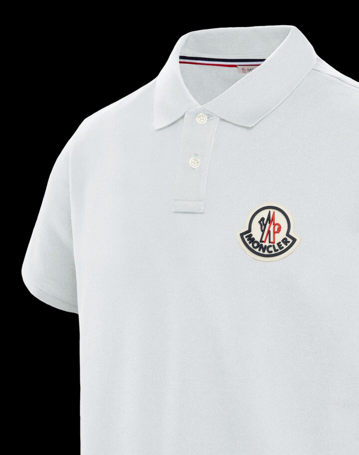 Moncler Polo with maxi logo Off-White