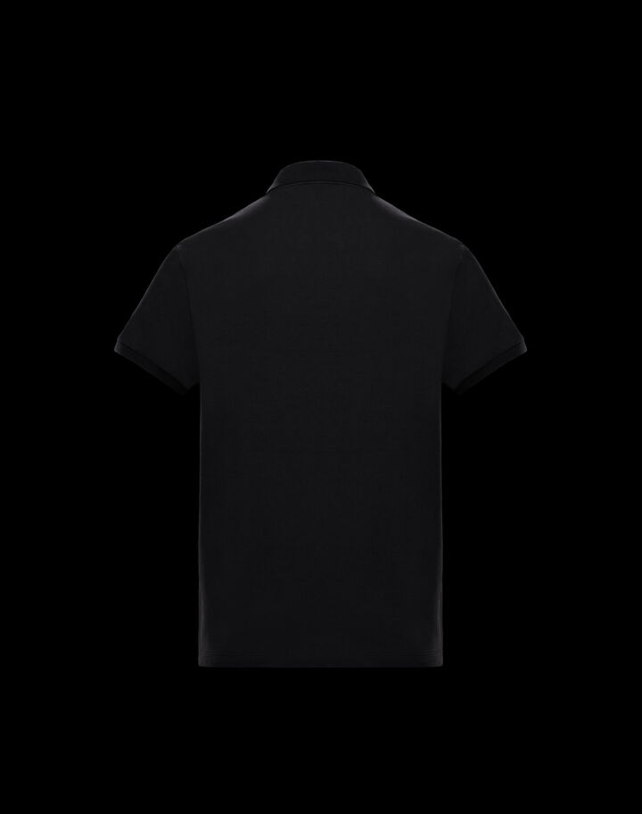 Moncler Tone on tone printed polo Black