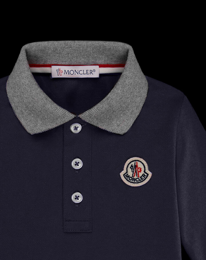 Moncler Long sleeve polo Night Blue